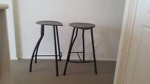 Two bar stools - 680mm high - used Greenwich Lane Cove Area Preview