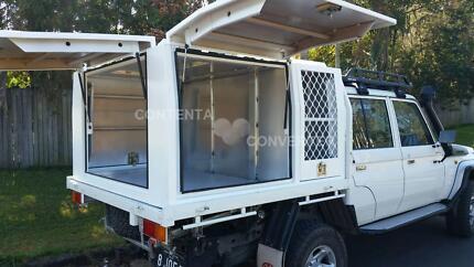 custom made Australian canopy and toolbox