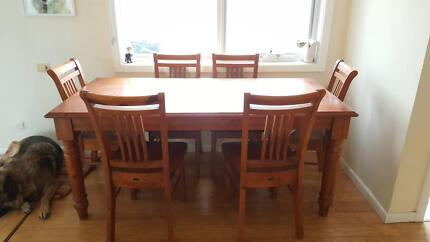 Kitchen Buffet And 6 Seat Dining Table