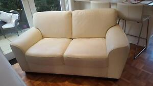 Gorgeous cream leather sofa Epping Ryde Area Preview
