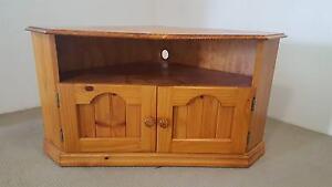 Wooden Corner TV Cabinet Mortdale Hurstville Area Preview