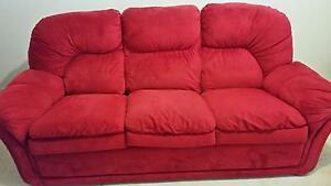 Super comfortable 3 Seater Fabric Sofa and 2 Recliner Armchairs Angle Park Port Adelaide Area Preview