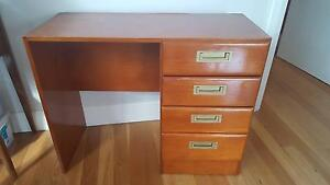 Four Drawer Wood Study Desk Table Bar Beach Newcastle Area Preview