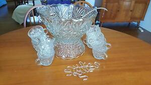 1970s Punch Bowl Set Royalla Queanbeyan Area Preview