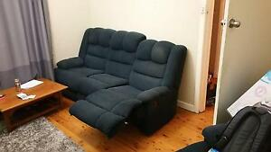 2 Blue recliners + matching couche Croydon Burwood Area Preview