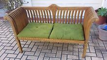 CARVED BALINESE 2 SEATER BENCH, GC! Greenslopes Brisbane South West Preview