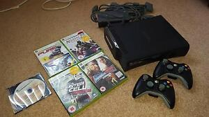 MUST SELL!!! XBOX 360, WIFI adapter, 2 controllers, 5 games Turramurra Ku-ring-gai Area Preview