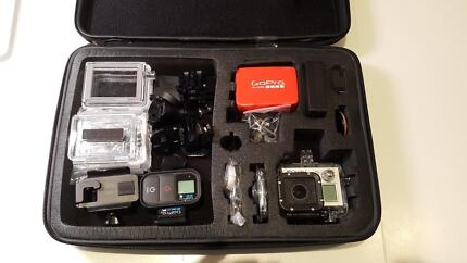 GoPro Hero 3+ Plus Black Edition Action Camera and acessories Tennyson Charles Sturt Area Preview