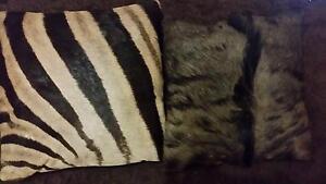 Genuine Zebra and Wildebeest Cushion Covers Glen Forrest Mundaring Area Preview