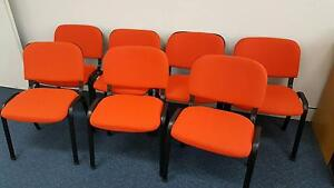 RED STACKABLE OFFICE CHAIRS - 102 - work school study university Murarrie Brisbane South East Preview