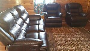 SALE!! Leather Sofa set Dereel Golden Plains Preview