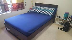 Double Bed & Mattress - used 1.5 yrs - excellent condition - IKEA Burwood Burwood Area Preview