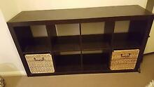 IKEA Kallax bookcase - 8 cubes black brown St Leonards Willoughby Area Preview