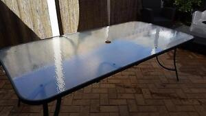 Glass top outdoor dining table and chairs St James Victoria Park Area Preview