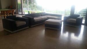 chaise 3 seat lounge suite w/ 2x single matching armchairs Lilli Pilli Sutherland Area Preview