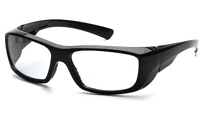 Pyramex Emerge Black Clear Safety Glasses Motorcycle Shatterproof Shooting Z87