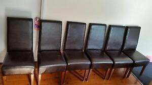 Chairs X 6 Leather Dark Brown North Ryde Ryde Area Preview