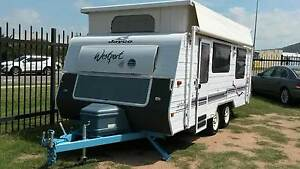 Caravan pop top Jayco Westport 18' Tandem air con roll out awning Garbutt Townsville City Preview