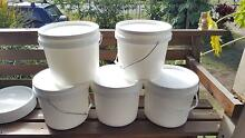 $3 each - 10 Ltr PLASTIC BUCKETS WITH LID AND HANDLE Eight Mile Plains Brisbane South West Preview
