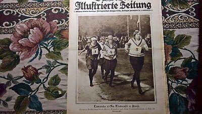 1922 Illustrierte 40 Wettmarsch Zürich Schlieren Smyrna Twann Ligerz Chur Toteng