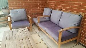Hardwood outdoor lounge setting McLaren Flat Morphett Vale Area Preview