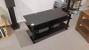 Black Glass TV Stand - Perfect Condition Pick Up Only Greenwich Lane Cove Area Preview