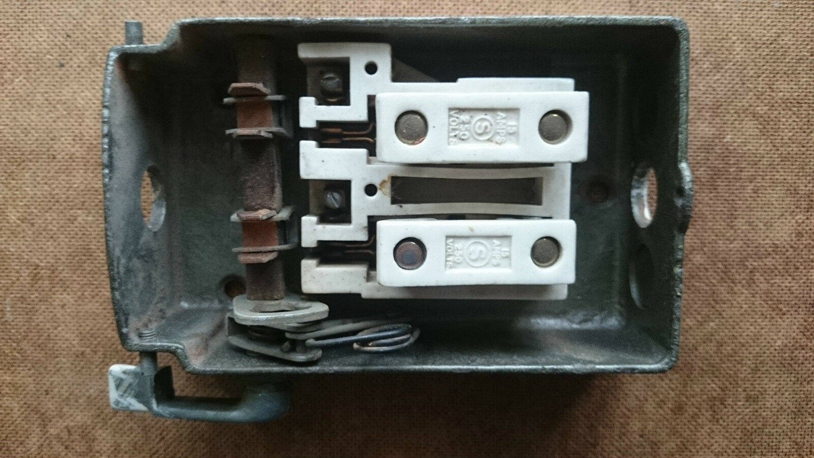 Old House Fuse Box Detailed Wiring Diagrams Outdated Vintage Retro 120 00 Picclick Uk Style Boxes