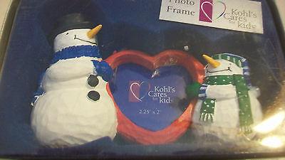 Snowman Heart Shaped Photo Frame From Kohl's, Bnip