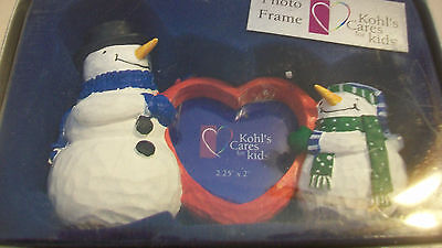 Snowman Heart Shaped Photo Frame From Kohl's, Bnip