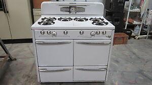 Vintage 1951 Roper Gas Stove 6 Burner 2 Ovens Antique