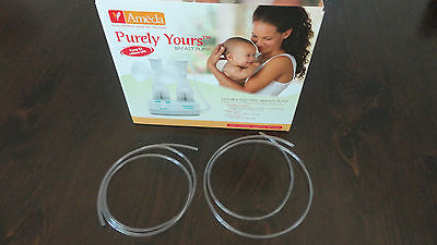 Ameda Purely Yours 2 Pc Breastpump Replacement Tubing Kit Tubes Pieces