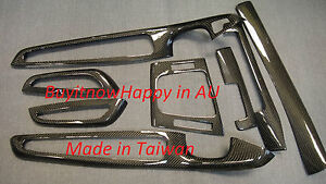 BMW E46 M3 CONVERTIBLE REAL CARBON FIBER INTERIOR TRIM 8 PIECES / SET RHD!!!!