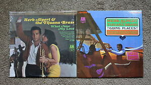 Lot-2-Records-Herb-Alpert-Tijuana-Brass-Going-Places-What-Now-My-Love-Stereo-VTG
