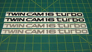 Toyota MR2 Twin Cam 16 Turbo Side Replacement Decals Stickers any colours
