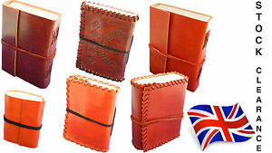 BARGAIN-LEATHER-NOTEBOOK-JOURNAL-DIARY-LEATHERBOUND-HANDMADE-COTTON-PAPER
