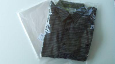 100 Clear 12x18 Poly Plastic Bags Flat Open Top 1 Mil Hoodies Xl Shirts Pants