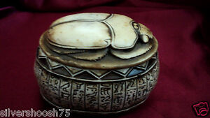 NEW-ANCIENT-EGYPTIAN-GOOD-LUCK-SCARAB-BEETLE-ORNAMENT-JEWELLERY-TRINKET-BOX