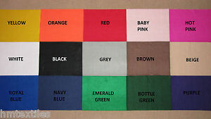 Polyester craft felt fabric 150 cm wide 16 colours 2mm thick sold by the metre
