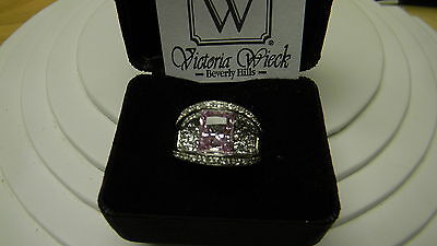 Victoria Wieck Sterling Silver Pink Absolute Bridge Ring Size 6 on Rummage