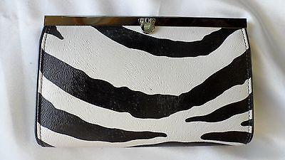 Zebra Clutch Purse/wallet W/ Multiple Pockets Retail $25 Free Ship