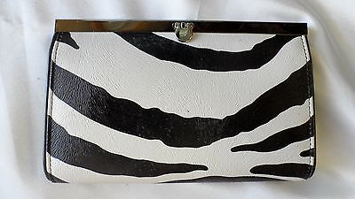 Zebra Clutch Purse/wallet W/ Multiple Pockets Retail $25 Free Ship