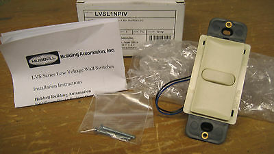 Hubbell Low Voltage Wall Switch Lvsl1npiv (ivory)