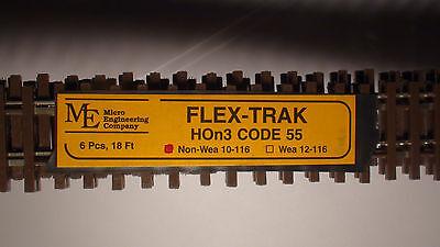 Micro- Engineering Hon3 Flex Track 10-116 Code 55 Non Wea 6pc Bigdiscounttrains