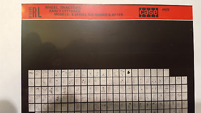Case Parts Catalog Microfiche Tractor Early Letter Series S Sc So Sn5600000