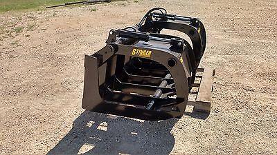 New 66 Brush Root Rake Grapple. Grade 50 Steel. Skid Steer Tractor Kubota