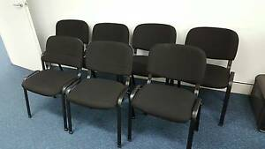 BLACK STACKING OFFICE CHAIRS - PRE-ORDER - conference reception Murarrie Brisbane South East Preview
