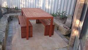 3 Piece Wooden table and bench seats Redcliffe Belmont Area Preview