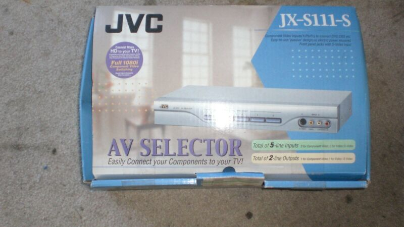 JVC AV Selector JX-S111 Silver Open Box Never Used Owners Manual Free Shipping