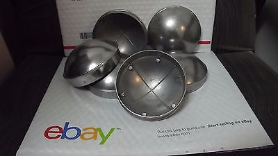 Chain Link Fence Post Dome Caps 6pc 4 Brand New Die Cast Aluminum