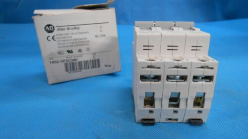 ALLEN BRADLEY 1492-SPC040 SER C MINIATURE CIRCUIT BREAKERS NEW